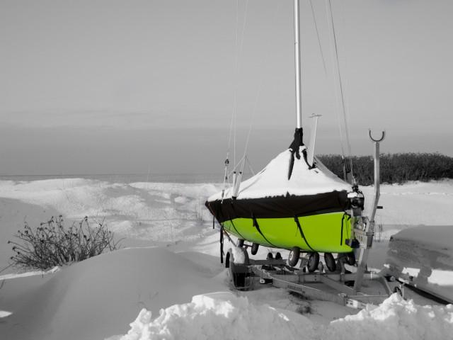 Green boat…