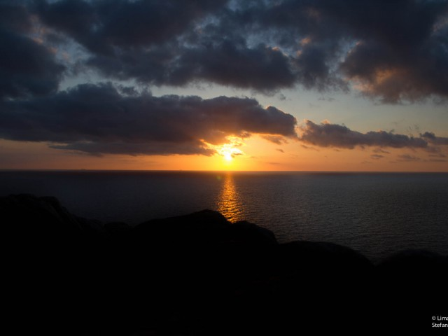Solnedgång på Kullaberg